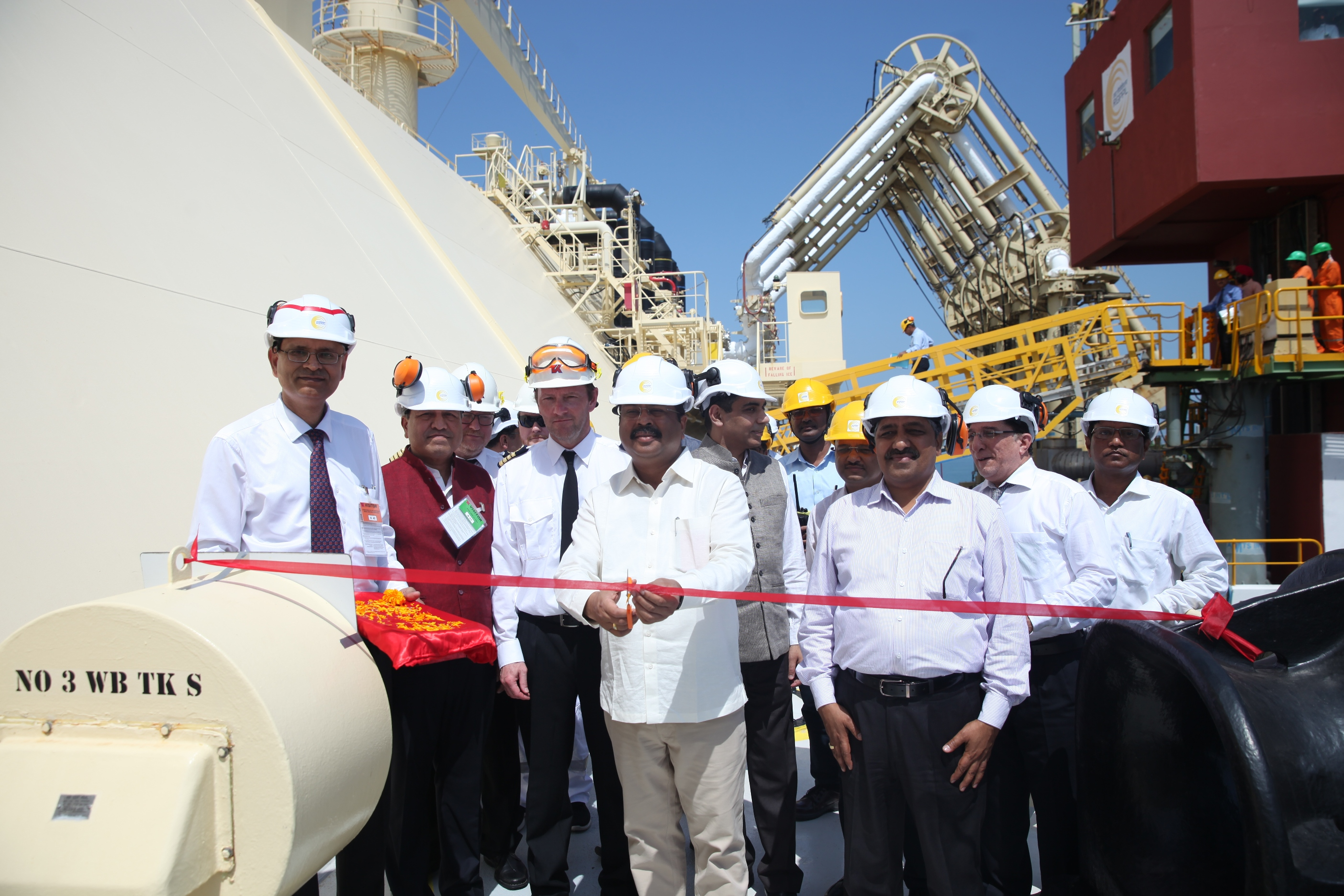 Hon'ble Minister, P&NG, receives India's first US LNG cargo