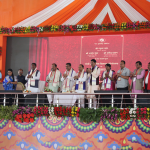 Hon'ble Chief Minister, Jharkhand, Hon'ble Union Minister of Tribal Affairs and Hon'ble Union Minister of P&NG and Steel launch CNG supply, CNG-run vehicles and D-PNG supply in Ranchi